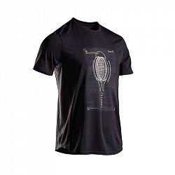 ARTENGO Tenisové Tričko Tts100 čierne
