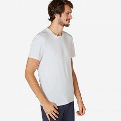 NYAMBA Pánske Tričko 500 Slim Biele