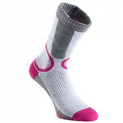 OXELO Dámske Ponožky Fit Sivo-ružové