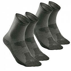 QUECHUA Ponožky Nh 100 High 2 Páry
