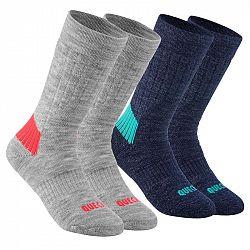 QUECHUA Ponožky Sh100 Sivé/modré