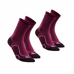 QUECHUA Vysoké Ponožky Mh500 2 Ks