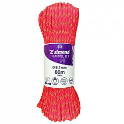 SIMOND Lano Rappel 8,1 mm 60 M Ružové