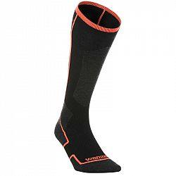 WEDZE Lyžiarske Ponožky 900 čierne